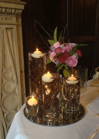Woodland/ Autumn/ winter /Outdoor twig and glass vase Table centrepiece