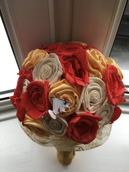 Beauty and the Beast keepsake alternative bridal bouquet