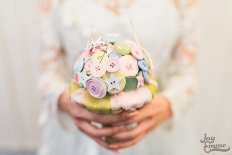 Stardust fantasy, pastel, stars and unicorn button alternative, keepsake bridal bouquet