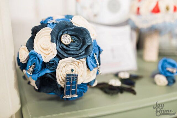 Doctor Who inspired alternative, keepsake bridal bouquet.