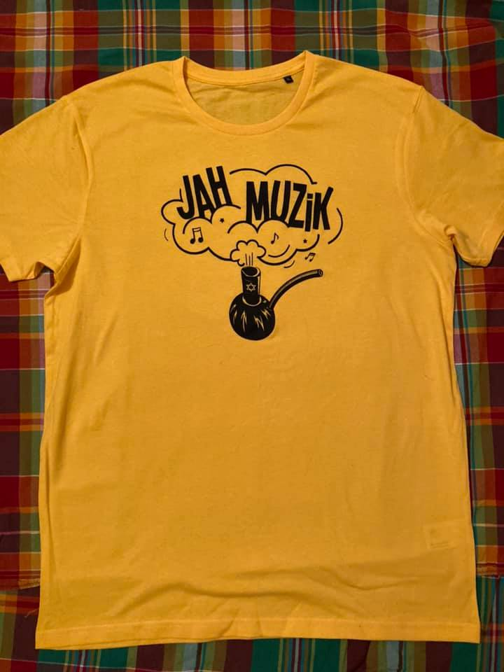Jah Muzik - T-shirt  Yellow & Black