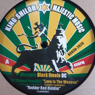 Discyple, Black Omolo, Kazam Davis, Infinite (4), Dubcreator ‎– All Things Possible/ Love is the Weapon/ Concrete Jungle/ Healing Is A Mission