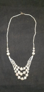 Collier perle blanche