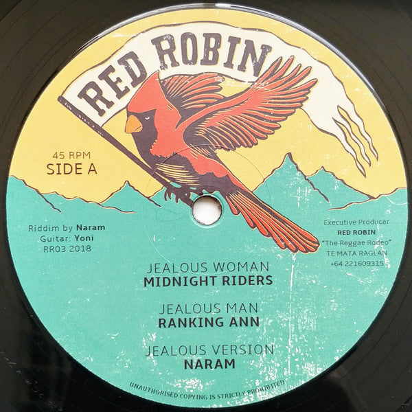 Midnight Riders, Ranking Ann, Naram, Earl Cunningham, Junior Cat ‎– Jealous Woman / War In The City
