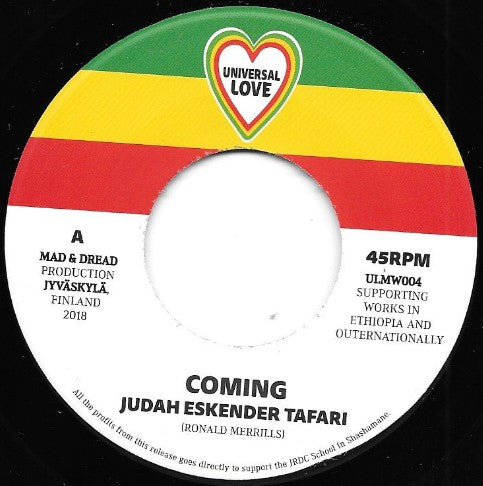 Judah Eskender Tafari ‎– Coming