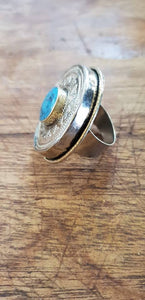 bague turquoise large
