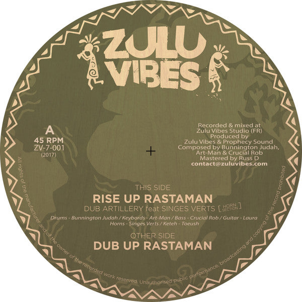 Dub Artillery Ft. Singes Verts Horn Section ‎– Rise Up Rastaman