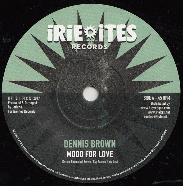 Dennis Brown / Jericho  ‎– Mood For Love / African Dub