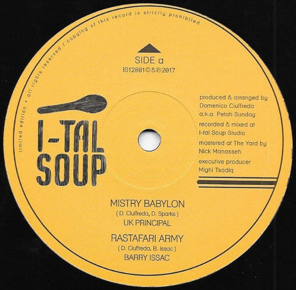 UK Principal / Barry Issac ‎– Mistry Babylon / RasTafari Army