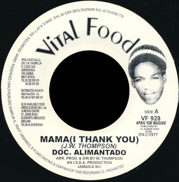 Doc. Alimantado* ‎– Mama (I Thank You)