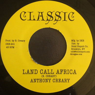 Anthony Creary ‎– Land Call Africa
