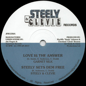 Garnet Silk, Steely & Clevie ‎– Love Is The Answer / A Man In Love