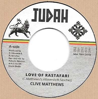 Clive Matthews ‎– Love Of Rastafari