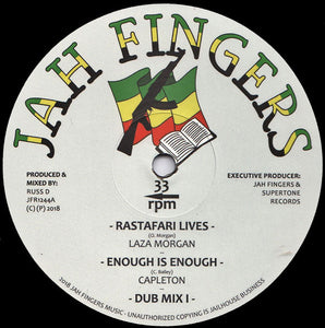 Laza Morgan, Capleton, Digistep, Russ D ‎– Rastafari Lives / Enough Is Enough / Protection