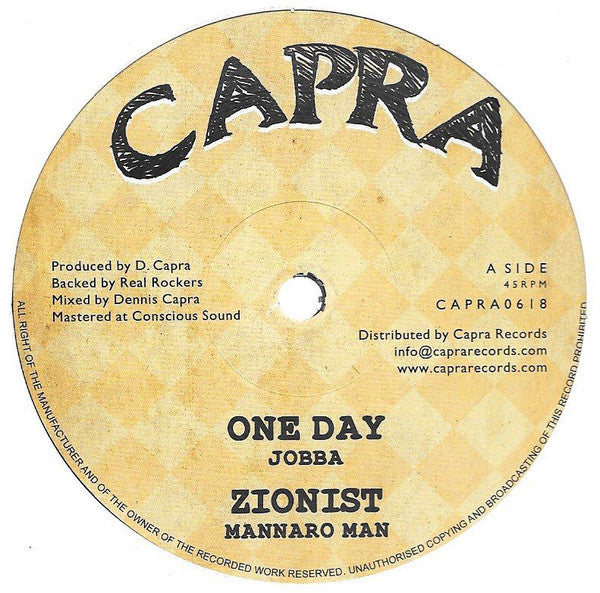 Jobba, Mannaro Man, Dennis Capra, Real Rockers ‎– One Day / Zionist