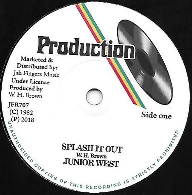 Junior West ‎– Splash It Out