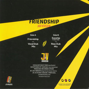 Jah Version, Yann Sax ‎– Frienship
