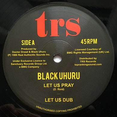 Black Uhuru ‎– Let Us Pray / Dread In The Mountain
