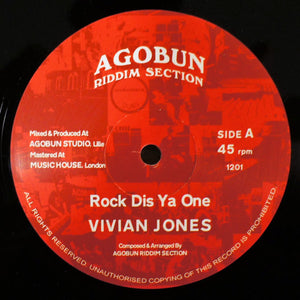 Vivian Jones, Agobun Riddim Section ‎– Rock Dis Ya One / Wickedness