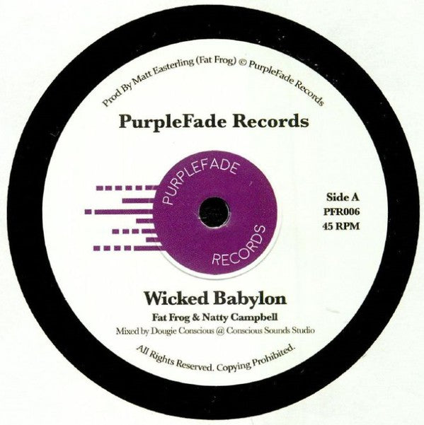 Fat Frog & Natty Campbell ‎– Wicked Babylon