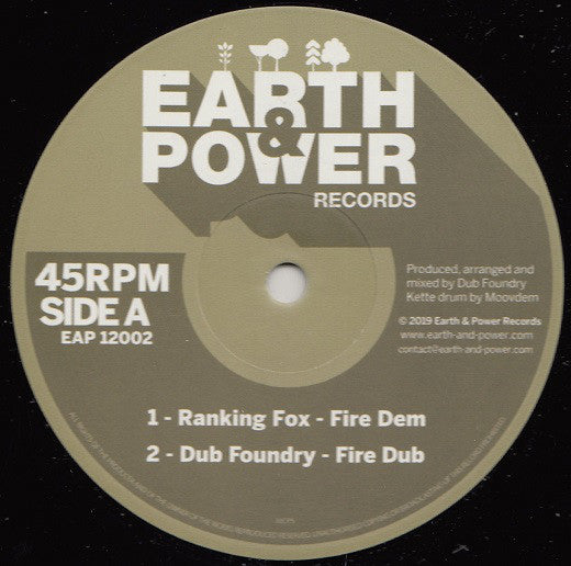 Ranking Fox, Far East, Tom Spirals, Dub Foundry, Moovdem ‎– Fire Dem - What Are You Fighting For - Forward Ever