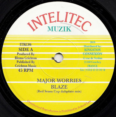 Major Worries ‎– Blaze (Red Seam Cop Dubplate Mix)