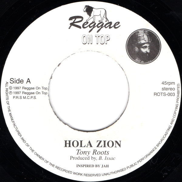 Tony Roots ‎– Hola Zion