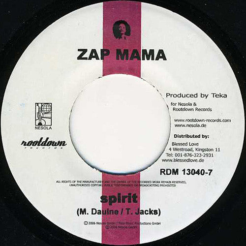 Zap Mama / Ginjah ‎– Spirit / Be Strong