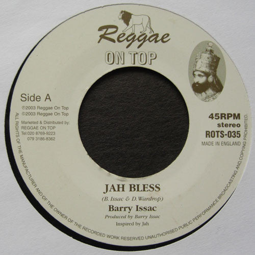 Barry Issac ‎– Jah Bless