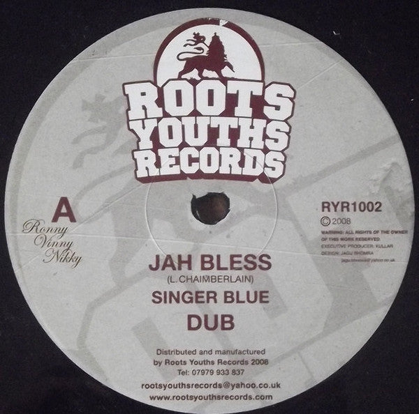 Singer Blue / Roots Youths Allstars ‎– Jah Bless / Tribesman