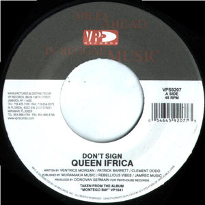 Queen Ifrica ‎– Don't Sign