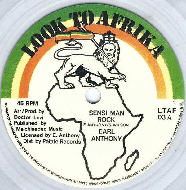 Earl Anthony ‎– Sensi Man Rock