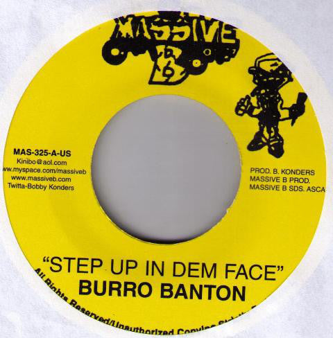 Burro Banton ‎– Step Up In Dem Face