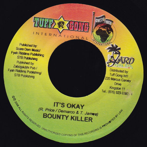 Bounty Killer / Mavado ‎– It's Okay / Me And My Dogs