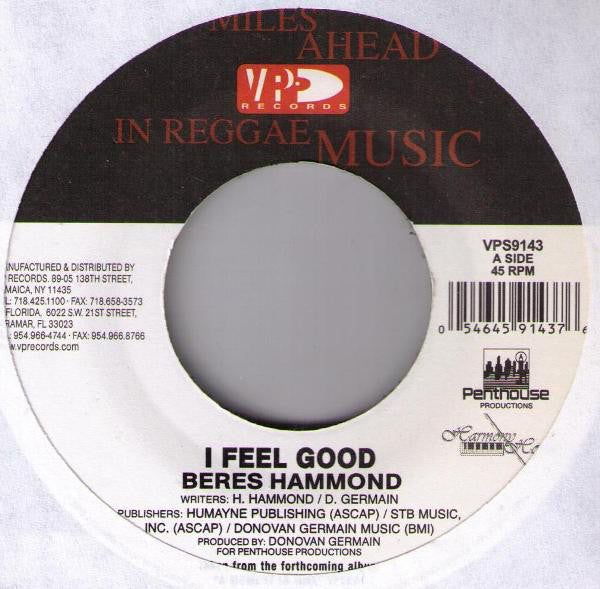 Beres Hammond ‎– I Feel Good
