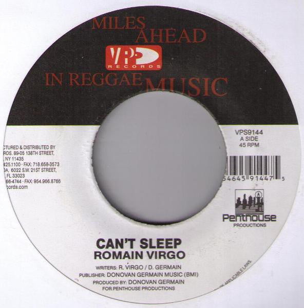 Romain Virgo ‎– Can't Sleep