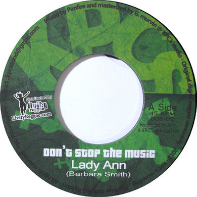 Lady Ann ‎– Don't Stop The Music