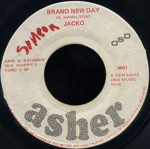 Jacko ‎– Brand New Day