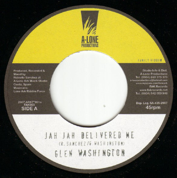 Glen Washington / Ranking Forrest ‎– Jah Jah Delivered Me / Heads Of Government