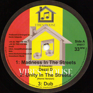 Dezzi D ‎– Madness In The Streets / Hypocrites And Parasites