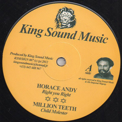 Horace Andy, Million Teeth, Ras Hassen Ti, Fabwise ‎– Right You Right + Child Molester + Where Is
