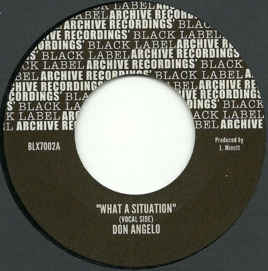 Don Angelo ‎– What A Situation
