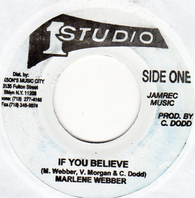 Marlene Webber ‎– If You Believe