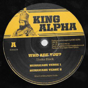 Shaka Black ‎– Who Are You ? / Weeping And Moaning