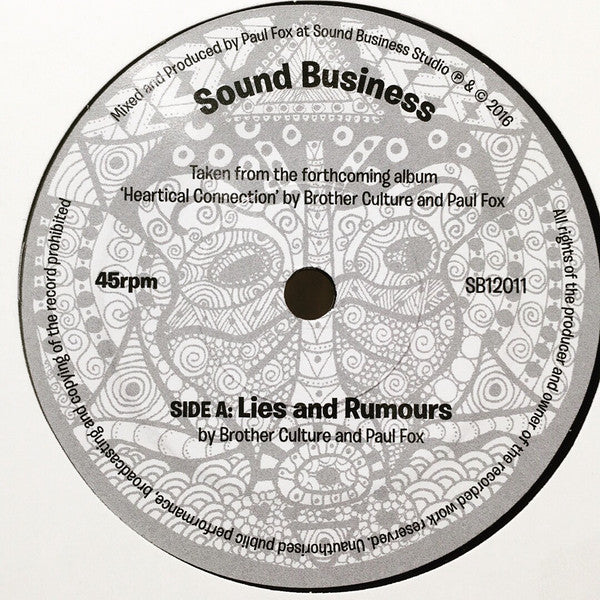 Brother Culture And Paul Fox  ‎– Lies and Rumours
