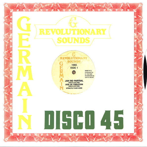 The Revolutionaries ‎– Jah No Partial Dub/Age Of Creation Dub/Girl Your My Kind Dub/It A Go Dread Dub