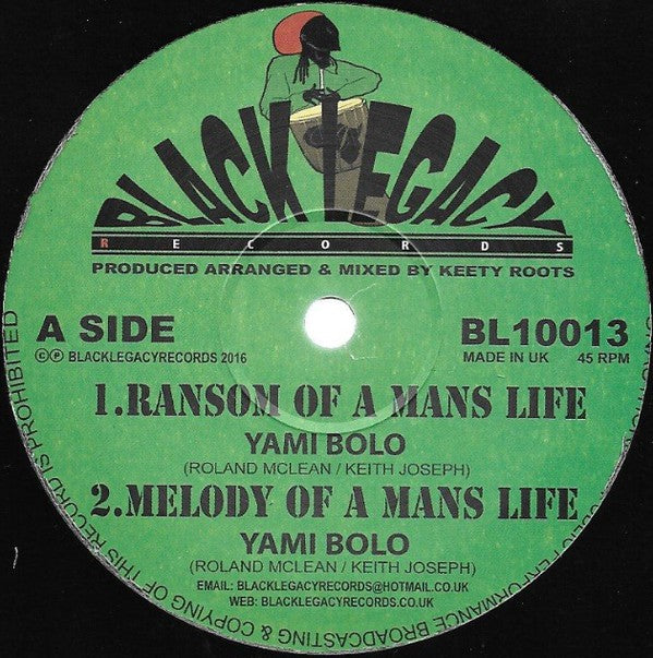 Yami Bolo ‎– Ransom Of A Mans Life