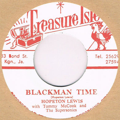 Hopeton Lewis With Tommy McCook And The Supersonics* ‎– Blackman Time / Live It Up