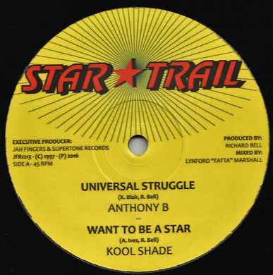 Anthony B / Kool Shade ‎– Universal Struggle / Want To Be A Star