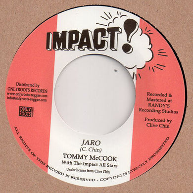 Tommy McCook With The Impact All Stars ‎– Jaro / Maro